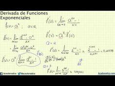 Derivada de una función exponencial
