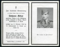 orig. WK2 STERBEBILD - DEATH CARD - ELITE - 18 JAHRE - POLEN 1944