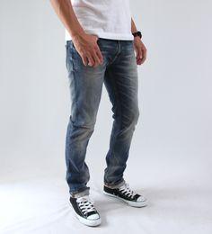 【楽天市場】【送料・代引料無料】【Safari Leon SENSE掲載ブランド】Nudie Jeans(ヌーディージーンズ)/THIN FINN(シンフィン)【ORG.GREY BLUE SHADES】(38161-1098):HELLOS