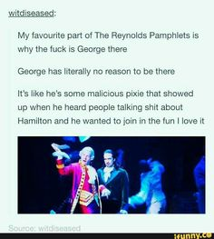 """""""malicious pixie"""" the best description of JGroff's George I've ever heard,, bc it's real af"""