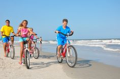 Rent bikes and head down Palmetto Dunes' 3 miles of beach, Hilton Head Island #biking