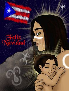 This year& Christmas card. Again my mum convinced em to put the Puerto Rican flag on it. This is a Taino version of Mary and Jesus. I will upload monsters soon just had to get this and 100 ot. Puerto Rico Island, Puerto Rico Trip, San Juan Puerto Rico, Christmas In Puerto Rico, Puerto Rico Pictures, Puerto Rican Flag, Puerto Rican Culture, Mary And Jesus, Puerto Ricans