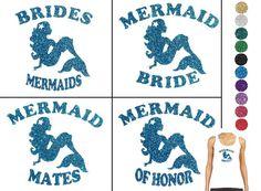 Diy MERMAID BRIDE Iron On Bridal Vinyl Applique by wingsnthings13