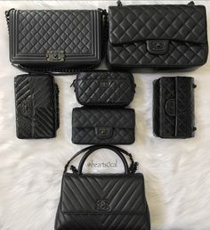Chanel All Black, All Beautiful Images via @ihearts0cal