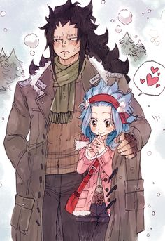 Gajeel ღ Levy (Winter❄️) ❤️ Fairy Tail ღ Gale Fairy Tail, Fairy Tail Art, Fairy Tail Guild, Fairy Tail Ships, Couples Fairy Tail, Fairy Tail Family, Fairy Tale Anime, Fairy Tales, Enfants Fairy Tail