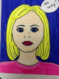 Less Talk, More Art: A middle school art ed blog: Pop art portraits 7 th grade