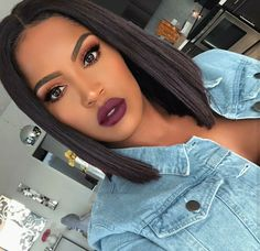 This is a Virgin Brazilian Human Hair Lace Front Wigs Ombre Straight Short Bob Wigs. Black Girl Makeup, Girls Makeup, Weave Hairstyles, Straight Hairstyles, Black Bob Hairstyles, Natural Hair Styles, Short Hair Styles, Bob Lace Front Wigs, Front Lace