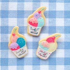 """fragola blog「トリプルアイスのクッキーブローチ」 Sophie et Chocolatさん主催 イベント""""Go!Creators!""""今回のテーマは""""ICE CREAM SHOP"""""""