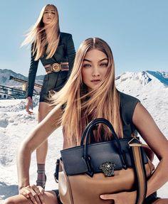 "runwayandbeauty: ""Gigi Hadid & Raquel Zimmerman - Versace Spring/Summer 2016 Ad Campaign. """
