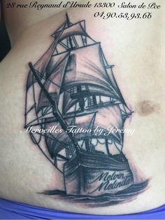 Tatouage bateau réalisé par Jérémy