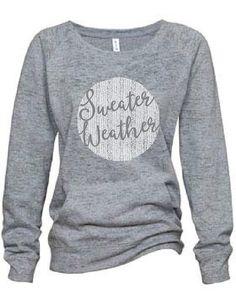 Women's Slouchy Sweatshirt//Sweater Weather//Fall by 1plus1Designs