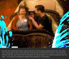 Brave groom proposes on Splash Mountain, manages not to drop the ring