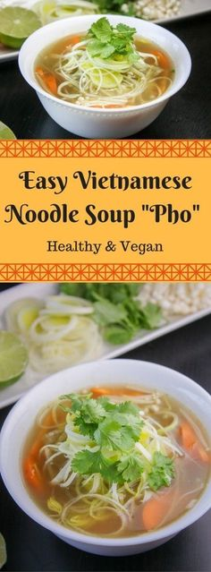 Vegan Vietnamese Pho Noodle Soup (Vegan Asian Recipes) - Another Asian classic. For reasons similar to the ramen, Pho soup makes for a fantasticly delicious and healthy vegan dish.