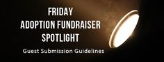 "Author Julie Gumm is starting a new blog feature ""Friday Adoption Fundraiser Spotlight"" See the pin for guidelines on submitting your adoption fundraiser."