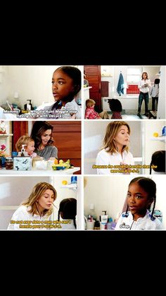 Life lessons brought to you by Zola and Meredith