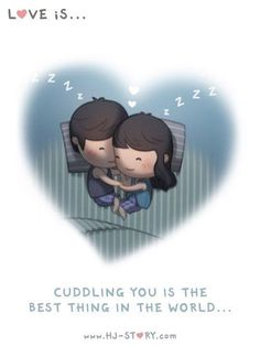 Znalezione obrazy dla zapytania hj story love is. Hj Story, Love Cartoon Couple, Cute Love Cartoons, Cute Love Stories, Love Story, Greetings From Germany, Cuddle Quotes, Cuddle Love, My Husband Quotes