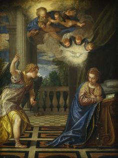 The Annunciation by Veronese, Italian painter 15-28-1588. Samuel H. Kress Collection, National Gallery of Art, Washington DC. USA.