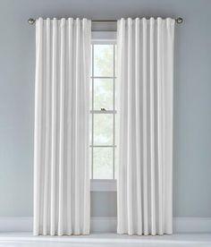 Jasper Faux Silk Lined Back Tab Curtains - White | Prospect + Vine