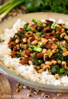 Hoppin' John with Kale - A Family Feast More