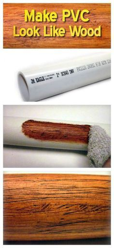A Genius Idea to Make PVC Look Like Wood. Could this be the solution to making pvc-based hydroponic setups look less ugly?