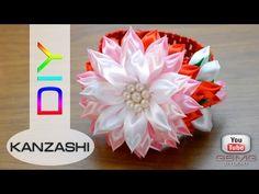 Повязка на голову с цветком Канзаши. МК. Рукоделие. DIY. Hand Made. Kanzashi. - YouTube