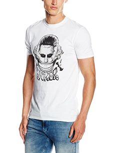 SUICIDE SQUAD Joker Face, Camiseta Para Hombre, Blanco, Medium #camiseta #starwars #marvel #gift