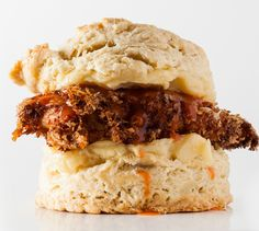 Fried chicken on a hot buttered biscuit—what's not to like?