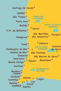 Santiago Do Cacem, Portugal Travel, New Journey, Algarve, Life Is Good, Surfing, Parque Natural, Road Trip, Places To Visit