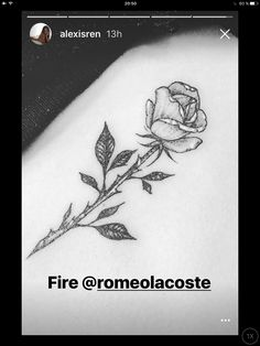 Alexis Ren Rib Cage Rose Tattoo by Romeo Lacoste