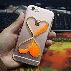 Voor+iPhone+6+hoesje+/+iPhone+6+Plus+hoesje+Stromende+vloeistof+hoesje+Achterkantje+hoesje+3D+cartoon+Zacht+TPUiPhone+6s+Plus/6+Plus+/+–+EUR+€+9.79