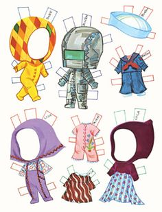 Liddle Kiddles Paper Dolls for boys and girls