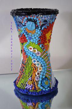 Mosaic Art Sculpture  Mosaic by TeriSokoloffGlass on Etsy