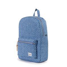 Amazon.com: Herschel Supply Co. Settlement Mid-volume Backpack, Limoges Crosshatch/White Polka Dot, One Size: Clothing
