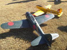 Yellow Aircraft Zero and Chipmunk ARF
