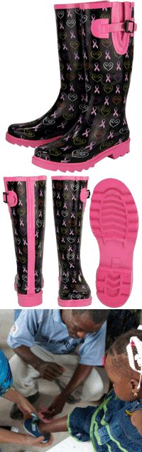 Pink Ribbon Spirit Rain Boots