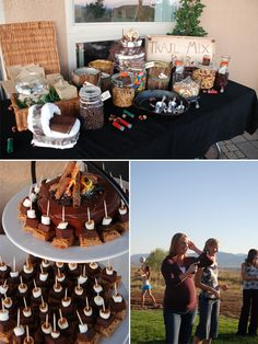 camo theme baby shower party ideas and foods, but can be used for a birthday party as well :)