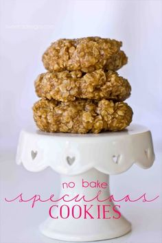 no bake speculoos cookies- these are the best no bake cookies ever!