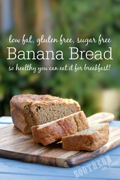 Hundreds of recipes promise to be The Best Banana Bread Recipe - but Kristy was never satisfied... so she created a Healthy Banana Bread Recipe that is low fat, gluten free, sugar free and healthy enough to eat for breakfast. Perfect toasted and topped with butter or eaten as is and the recipe is also freezer friendly! The only banana bread recipe you will ever need!