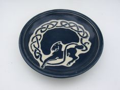 Celtic Horse Bowl Knotwork by jeannepottery on Etsy