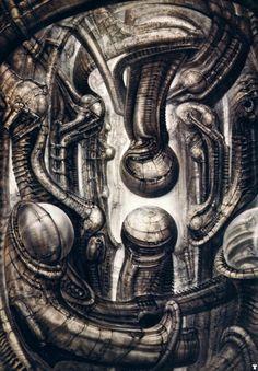 Dark Art: Hans Rudi Giger gallery № 3 Hr Giger Art, Hr Giger Alien, Alien Film, Alien Art, Arte Sci Fi, Sci Fi Art, Arte Horror, Horror Art, Fantasy Kunst