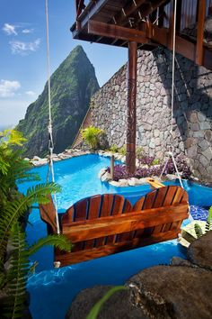 Best Romantic Caribbean Resorts: Open-wall Suites at Ladera in St. Lucia - VacationIdea.com