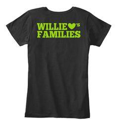 Willie 's Families Black T-Shirt Back