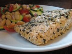 Baked Salmon -  This is the best baked salmon recipe I have ever tried.  Very easy yet very tasty!