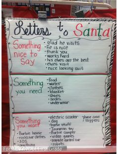 Easy Christmas Classroom Decorations you'll have to check out before you scroll up Briefe an den Weihnachtsmann Kindergarten Writing, Teaching Writing, Writing Activities, Literacy, Kindergarten Christmas, Teaching Ideas, 2nd Grade Christmas Crafts, Writing Ideas, Vocabulary Activities