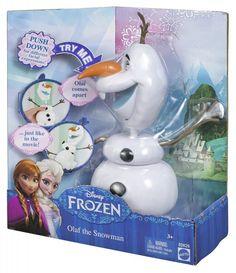 Ledové království - Sněhulák Olaf. Olaf je veselý sněhulák plný optimismu, kterého vytvořila malá Elsa, když si se sestrou Annou hrály. Tento sněhulák má vyskakovací hlavu, stejně jako ve filmu. Stačí zmáčkonut jeho vrchní knoflík. Navíc umí srandovně koulet očima, když stisknete větvičku, kterou má na hlavě a umí několik výrazů.