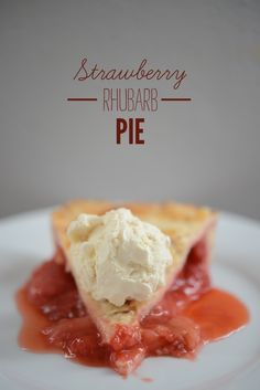 Strawberry Rhubarb Pie from Cupcakes and Cashmere. Definitely will try to make this when I'm home for summer!