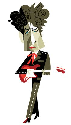 Bob Dylan. I'm not a huge Dylan fan per se, he just has a lot of caricatures done of him.