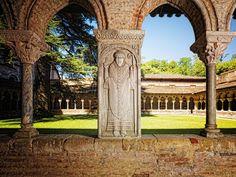 Toulouse,  Moissac,  Cloître de l'abbatiale Saint-Pierre (XII ème s.)