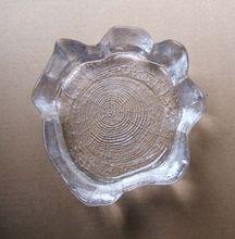 "Skruf Bengt Edenfalk Tree Trunk Textured Art Glass Bowl 6.5"" Sweden"
