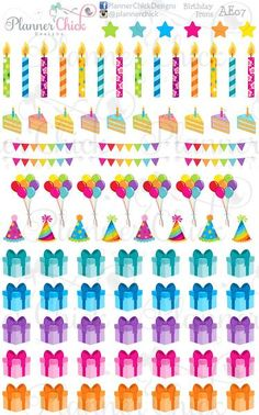 Decorate for birthdays in your planner or journal.